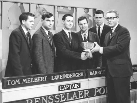 Every college that has ever competed on the show seems to have a picture of their team, except for Goucher. So here's a picture of the Rensselaer team. (Photo: Google Images).