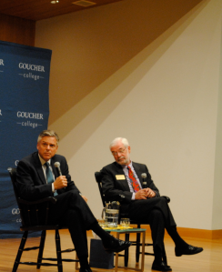 Republican presidential candidate, former governor of Utah and ambassador to China Jon Huntsman spoke about the future of the United States' political landscape in the college's Hyman Forum on November 19. [Photo: Rachel Brustein.)