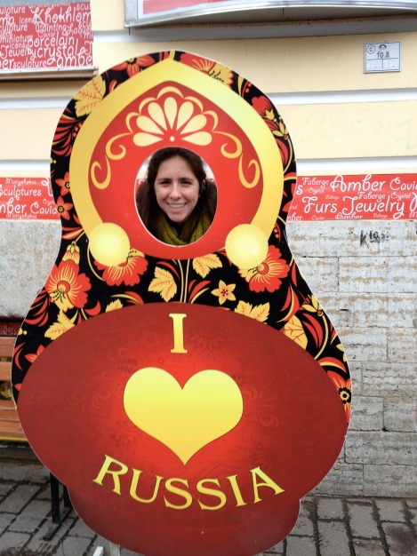 Allison Susser '14 on a trip to Russia (right). (Photos courtesy of Allison Susser.]