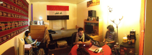 "The room of Ahmed Tarik '13 has become known as the ""Embassy"" amongst his friends. (Photo: Tirto)."