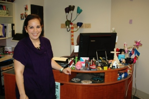 Candance Doane in her new office in Community Living. (Photo: Annie Cutchen).
