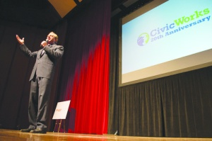 Robert F. Kennedy, Jr. speaks at Civic Works' 20th Anniersary celebration. (Photo courtesy of Bmore Photography)
