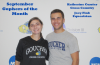 Katherine Currier and Joey Fink in the varsity room at the SRC (Photo: Goucher Athletics)