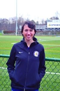 Brooke Merchant '17 at Beldon Field. (Photo: Nora Morgan)