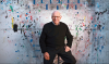 Ellsworth Kelly in front of one of his color paper paintings. (Photo: Google Images)
