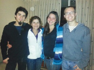 Andrew Huff (right) with his host family in Chile (Photo: Courtesy of Andrew Huff)