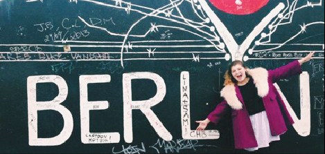 Ruby Tucker at the East Side Gallery in Berlin, Germany (Photo: Ruby Tucker)