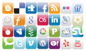 Logos from many popular social media sites, such as Facebook, Youtube, Google Plus, Reddit, Myspace, and others. (Photo: Google Images)