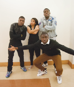 Members of Umoja pose at the Old School vs. New School Dance Party (Photo: Umoja Facebook page)