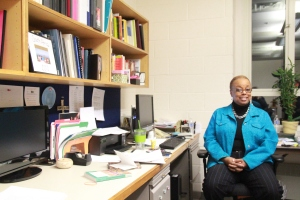 LaJerne Cornish, chair of the education department and chair of faculty, in her office in Van Meter (Photo: Christopher Riley)