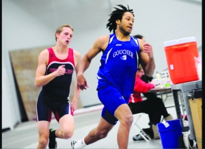 Shannon Sanders '16 at the Muhlenberg Invitational (Photo: Athletics website)