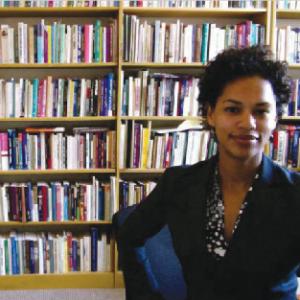 Women's and Gender Studies Professor Mel Lewis in her office. (Photo courtesy of Mel Lewis)