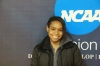 Desirae Moten slows down for a picture in the SRC (Photo: Christopher Riley)