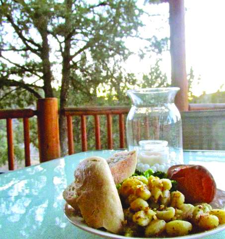 Various snacks on display in the summer sun (Photo: Kathryn Walker)