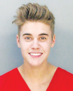 Justin Beiber mug shot (Photo: Google Images)