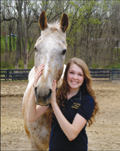 Sarah Lummis, a member of the Equestrian Team (Photo by: Anna Martin)