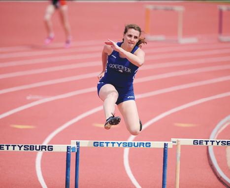 Danielle Granger '16 competing at Gettysberg College (Photo: Goucher Athletics)