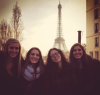 Goucher students abroad in Paris posing infront of the Eiffel Tower last spring (Photo: Courtesy of Sarah Rubinstein '14)